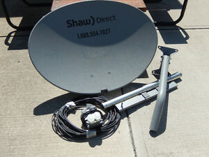 SHAW DIRECT  DISH AND STAND