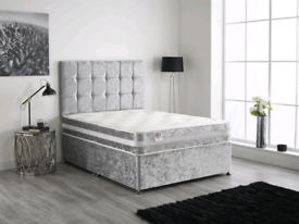 EXTRAORDINARY DIVAN bed set with luxury mattress and FREE MATCHING HEA