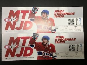 Canadiens vs New Jersey Devils December 8th REDS pair