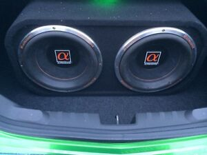"2 12"" alphasonik subs and box"