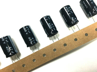 New 47uf 400v Radial Electrolytic Capacitors 105 C Lot Of 6