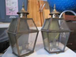 vintage lighting light fixtures hard wire and glass shades
