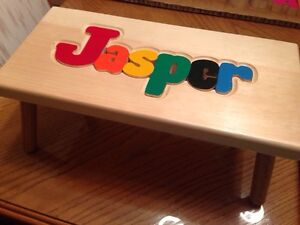 Personalized puzzle step stool West Island Greater Montréal image 2