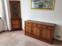 Sideboard & Drinks Cabinet - Solid Wood For Sale