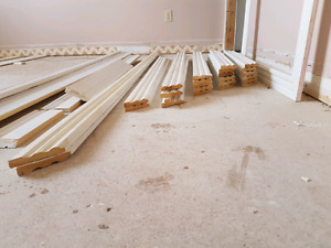 Baseboard and casement trim