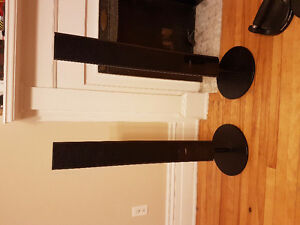 Twin Sony Speakers With Stands