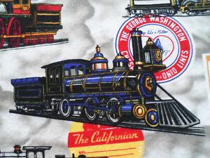 "TRAINS, LOCOMOTIVES, RAILROAD SHIRT, MEN'S: ""XL"""