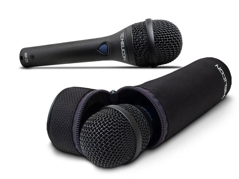 TC-Helicon MP-75 , Dynamic Vocal Microphone Incl. Mic Control Button for Control of Effects / USED.