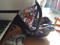Maxi cosi cabriofix car seat marvel Spider-Man etc