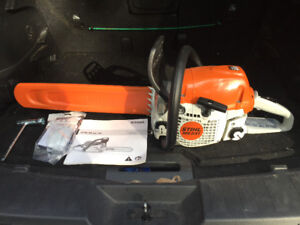 """Stihl Chain Saw- MS-231 """"BRAND NEW"""" NEVER HAD GAS IN IT!!!"""