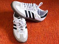 Adidas White/Gum Original Sambas