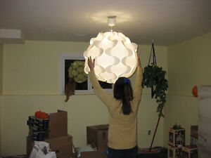 Large round hanging light