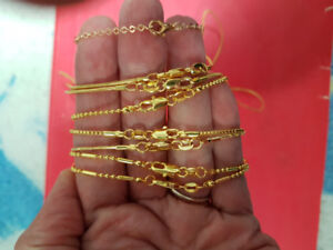 "18k yellow gold filled 18"" chains $20 each"