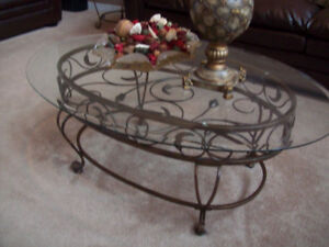 Coffee Table Set - 3 Piece Set - Gorgeous Wrought Iron