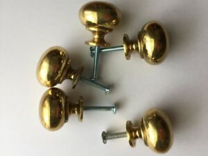 54 Kitchen Cabinet Nobs - Solid brass