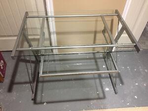 Brand new glass desk