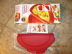"""""""NEW"""" Silicone Microwave """"OMELET MAKER"""" by Norpro -$15- ANCASTER"""