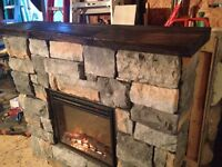 Stone fire place mantles