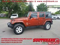 2014 Jeep Wrangler Unlimited SaharaMANUAL, HTD SEATS, NAVIGATION
