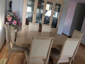 Moving sale - Dining table and glass cabinet