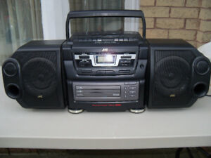 JVC PC-XC12 Ghetto Blaster BOOMBOX Huge 3 cd DOUBLE CASSETTE