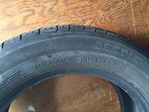 Two All Season Michelin tires  Kitchener / Waterloo Kitchener Area image 5