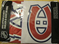 NEW Montreal Canadiens apron and BBQ mitt