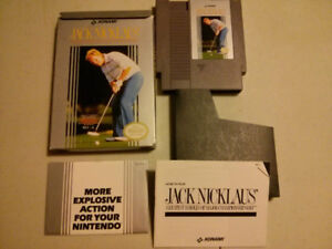 Nintendo NES video gameJack Nicklaus golf with box and manual