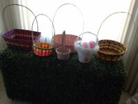 Easter Straw Woven Baskets
