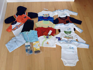 Lot of Brand New Boys Clothes - Size 3-6 mos