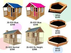 Kids Wooden Cubby House Outdoor Playhouse + Windows Verandah Derrimut Brimbank Area Preview