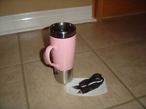 Brand new in box plug a mug travel coffee mug and charger London Ontario image 4