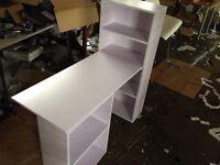 Childrens desk and shelves brand new