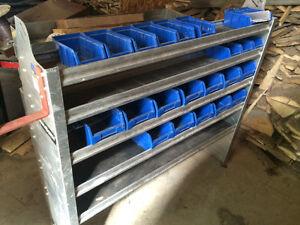 Cargo van shelves