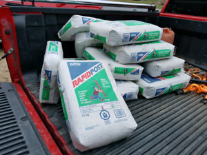 12 bags of Rapid post concrete mix $25