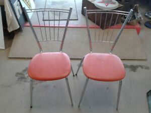 2 1950s Dinette Chairs