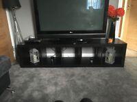 IKEA Black/Brown Tv unit, shelf unit