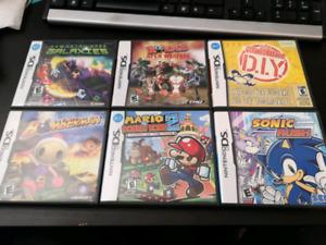 6 jeux Nintendo DS