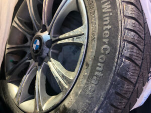 Winter tires mounted on mags BMW