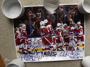 FS: 2010-11 Detroit Red Wings 11x14 Autographed Photo with COA London Ontario image 1
