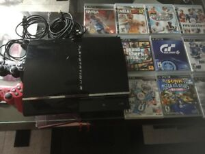 PlayStation 3, Console, sony + 10 games & 2 USB Controlers
