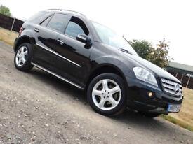 2007 Mercedes-Benz ML320 3.0TD CDI 7 G-Tronic Sport**SUV**BLACK**4x4**£6000**