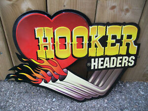 Metal Signs American Racing Hooker Headers Hemi Powered