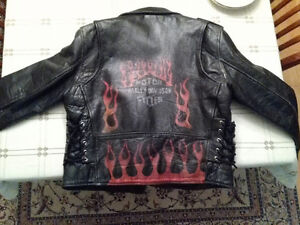 Men's Size Large Harley Davidson Leather Motorcycle Jacket