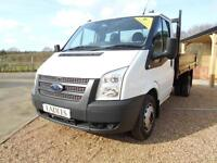 2014 63 FORD TRANSIT FORD TRANSIT 350 DRW TDCI SINGLE CAB 10FT STEEL TIPPER 2.2