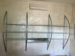 Beautiful Custom Metal/Glass Shelving