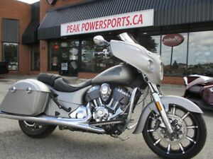 2017 Indian Motorcycle Chieftain Limited Silver Smoke