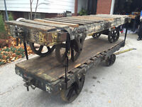 Industrial Cart - Awesome antique / vintage display table!