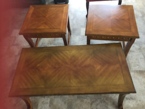 Solid Wood Coffee & End Table Set