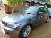2008 08 BMW 1 SERIES 2.0 118D M SPORT 5D 141 BHP DIESEL MANUAL IN BMW GREY